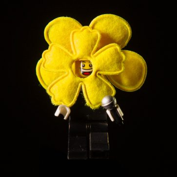 flower mask lego figure